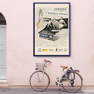 Diseño de cartel con ilustración personalizada para la exposición Señardá y memoria encesa del ayuntamiento de Cudillero, Asturias - Sierra Graphics