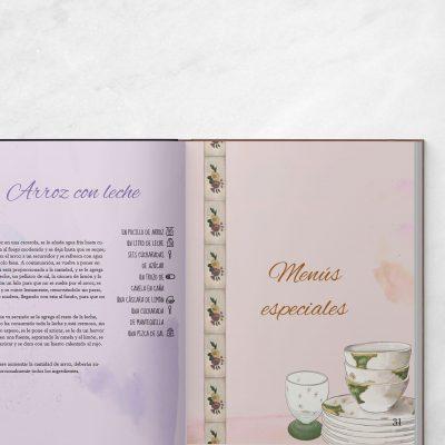 Ilustracion editorial y maquetacion para libro de recetas personalizado - Sierra Graphics